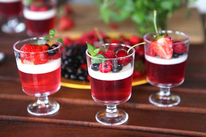 ягодно-молочное желе рецепт с фото-хв10