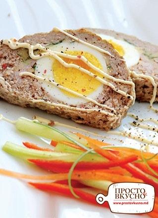 Просто&Вкусно - Мастер класс - Мясной рулет с яйцом и ветчиной