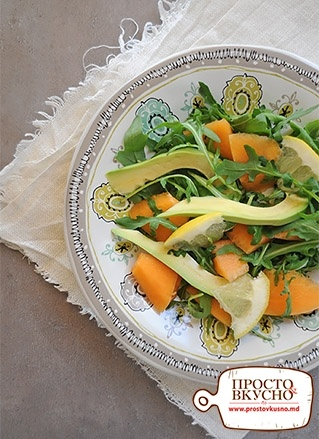 5e3cf8d5cfd4 Просто&Вкусно - Salate - Salată cu pepene galben și avocado